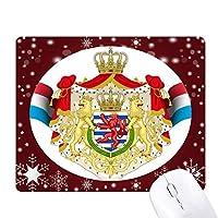 国立国のシンボルリュクサンブールエンブレム オフィス用雪ゴムマウスパッド