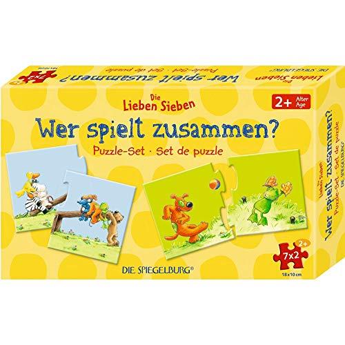 Die Spiegelburg 15732 Puzzle-Set 'Wer spielt zusammen?' Die Lieben Sieben (7x2 T.)