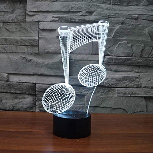 Luz De Ilusión 3D Luz De Noche Led 7 Lámparas De Música Usb Que Cambian De Color Atención Instrumentos Musicales Para Bebés Computadoras Portátiles Usb Amantes De La Música Decoración Del Hogar