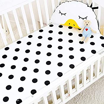 Black and White Stripe B00K88G0YO Fitted Crib Sheet for Paris Baby or Toddler Bedding by Sweet Jojo Designs