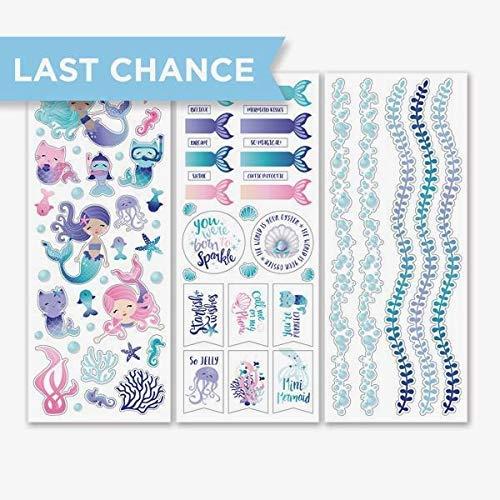 Rare Creative Memories Mermaid Cove Stickers (3/pk) Beach Waves Vacation Scrapbook & Card Making Designer Stickers