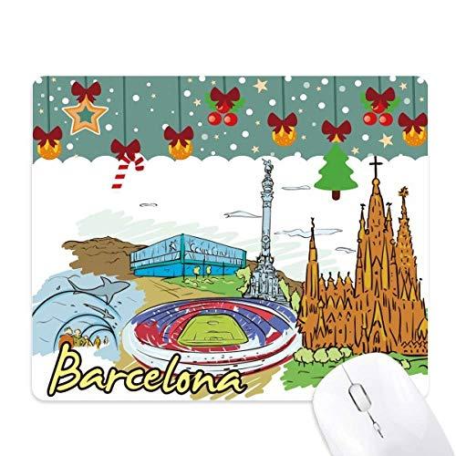 Spanje Barcelona Monument aquarel muismat spel Office Mat Kerstmis Rubber Pad