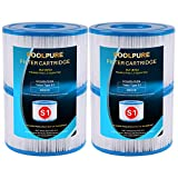 POOLPURE 4 Pack Type S1 Replacement PureSpa Filter for Easy Set Pool Cartridges, 11692 Spa Filter