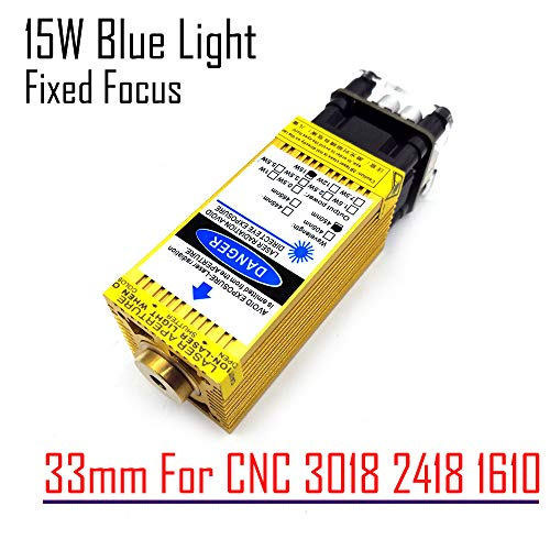 15000mw Laser Module 15W Blue Laser Module 12v for CNC 1610 CNC2418 CNC3018 DIY use 12V 450nm Wavelength PWM TTL Supportive
