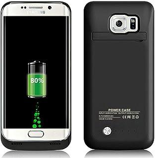 7477d491ea6 Funda Bateria para Galaxy S6 Edge, 4200mAh Carcasa Bateria Externa  Recargable Portatil Protector Cargador Power