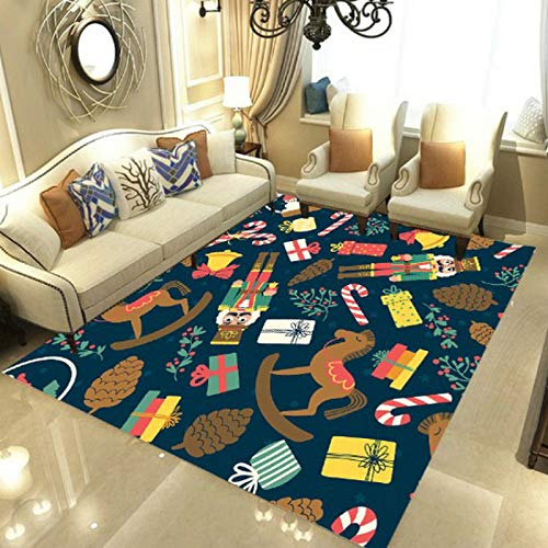 European-Style Simple Christmas Elder Elk Carpet Non-Slip Thickening Home Bedroom Carpet Bathroom Entrance Living Room Bedroom Floor Mat