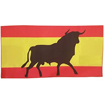 Spain Toalla de Baño Playa Piscina Bandera ESPAÑA Toro Osborne 150 X 75 CM 100% ALGODÓN: Amazon.es: Hogar