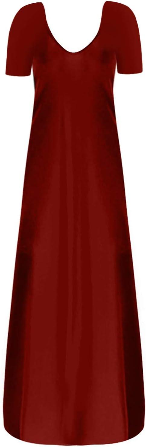 Plus Size Dresses Womens Maxi Summer Casual Midi T Shirt Beach Cocktail Vacation Vintage Dress