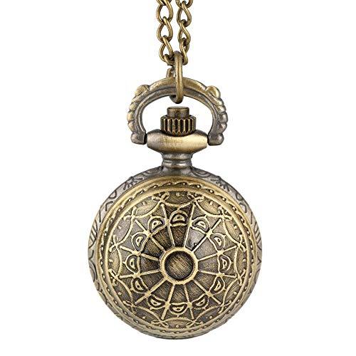 GAOFQ Geschenk für Jungen, Retro Spider Ball Form Halskette Anhänger Quarz Taschenuhr für Jungen, langlebige schlanke Kette Anhänger Uhr für Jungen
