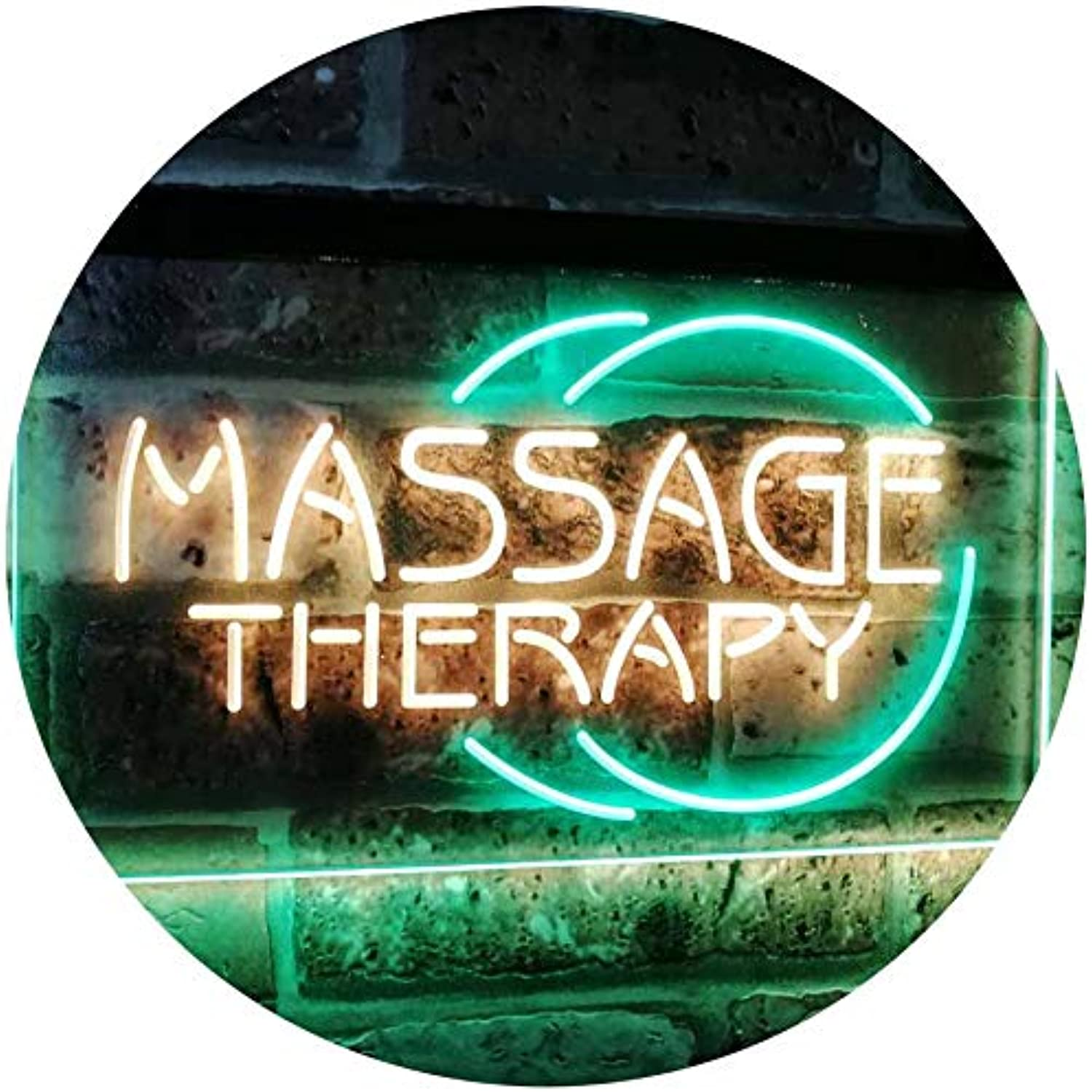 ADVPRO Massage Therapy Business Display Dual Farbe LED Barlicht Neonlicht Lichtwerbung Neon Sign Grün & Gelb 400mm x 300mm st6s43-i0315-gy