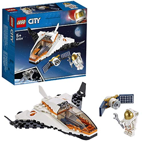 LEGO City Space Port - Misión: Reparar el Satélite, set de