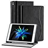 New iPad 10.2 8th/7th Generation 2020/2019 case with Pencil Honder.[Corner Protection] Multi-Angle Folio Leather Smart Cover with Pocket for iPad 10.2 Inch/iPad Air 3 10.5'(3rd Gen)/iPad Pro 10.5 inch