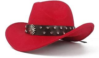 HaiNing Zheng 2019 Men Women Western Cowboy Hat With Punk Belt Winter Outdoor Hat Wide Brim Church Hat Pop Sombrero Hat Size 56-58CM