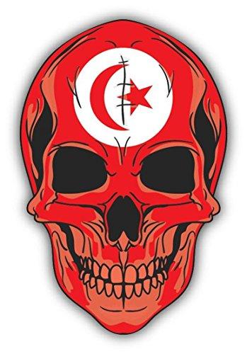 Skull Flag Tunisia and Tobago Vinyl Decal Bumper Sticker/Pegatina