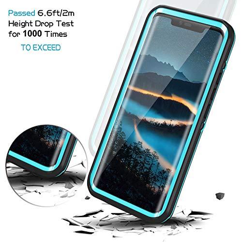 Lanhiem für Huawei Mate 20 Pro Hülle, IP68 Zertifiziert Wasserdicht Handy hülle 360 Grad Schutzhülle, Stoßfest Staubdicht und Schneefest Outdoor Schutz mit Eingebautem Displayschutz - Blau - 4