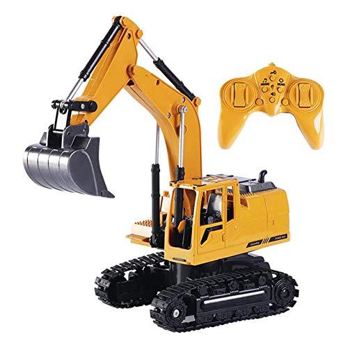 CMXUHUI El Juguete Favorito del bebé, Gran Regalo para los Camiones Mini Control Remoto Bulldozer 1:24 RC Excavator Mini RC Camión Recargable EXCAVADOR SIMUGUDIBLE Juguete para niños Niños
