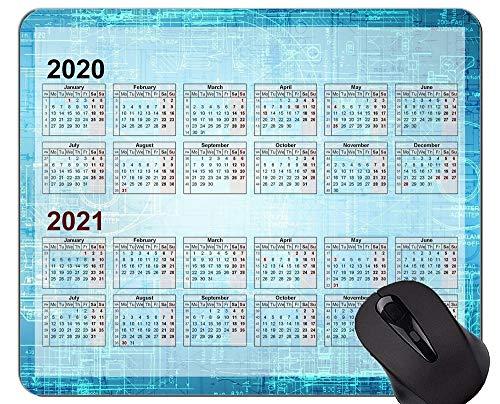 2020 Calendar Hd Font Custom Original Mouse Pad,Circuit Formula Themed Rubber Mouse Pad
