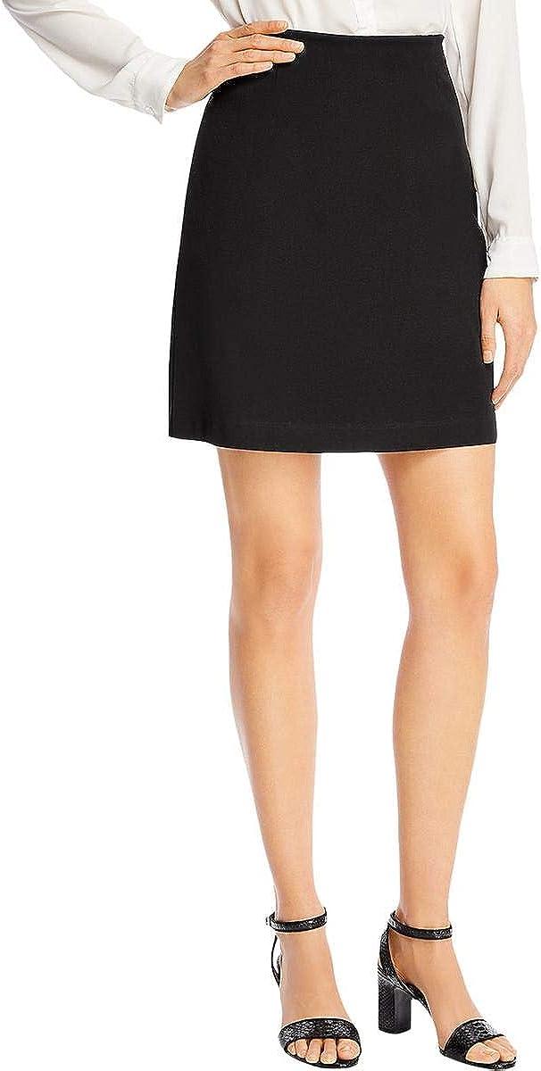 Kobi Halperin Womens Eve Solid High-Waisted A-Line Skirt