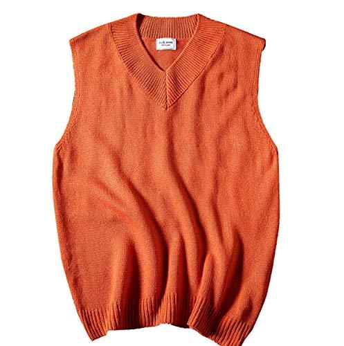 GL SUIT Heren Herenherfst en Winter Gilet V-hals Vest Effen Kleur Knitwear Klassieke Gentleman Trui Gebreide Taillejas Mouwloze Trui Tank Tops