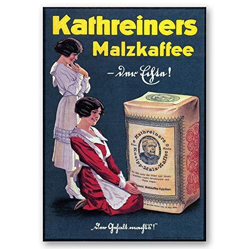 Legendarte Vintage-Werbeposter Kathreiners Malz-Kaffee cm. 50x70 - Wanddeko, Canvas