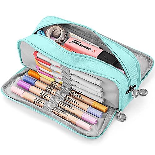 KidsPark Estuche Escolar con 3 Compartimentos, Estuche Escolar Grande Capacidad, Estuche Lapices...