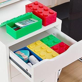 Generic Bluee S : 2016 Nuevos bloques de construcción multifuncionales multicolor se pueden apilar para cajas de almacenamiento, muebles de cocina y artículos de papelería de oficina.