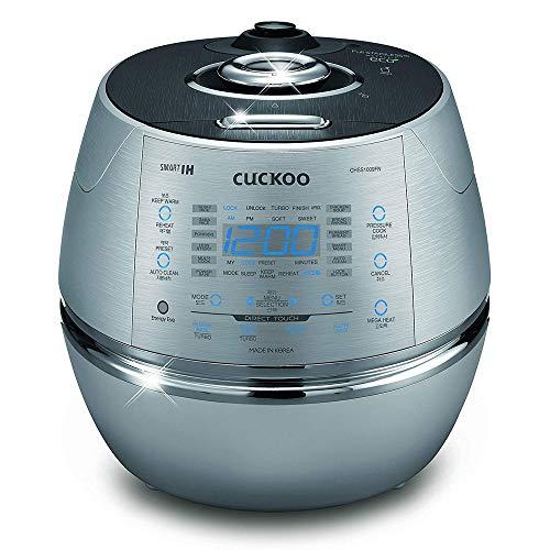 CUCKOO CRP-CHSS1009FN Dampfdruck-Reiskocher, programmierbar, aus Edelstahl