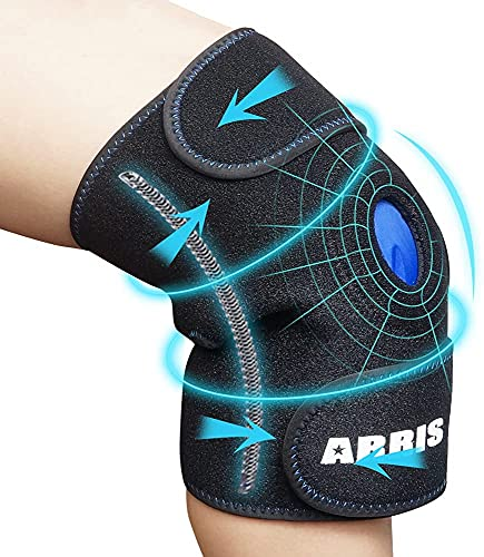 ARRIS Knee Ice Pack Wrap, Hot & Cold Therapy Knee Support Brace W/Ice Gel...