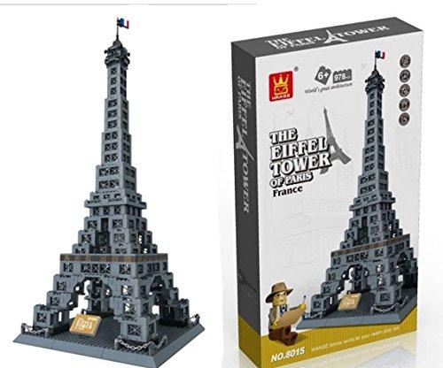 Eiffel Tower of Paris, France - Building Blocks 978 Pcs Set...