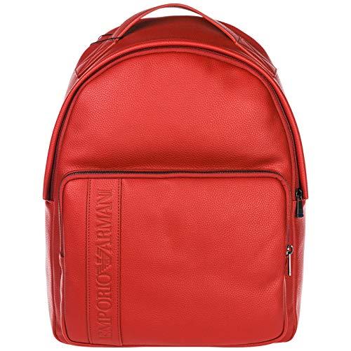 Emporio Armani Rucksack Herren Tasche Laptop Schulrucksack Rot