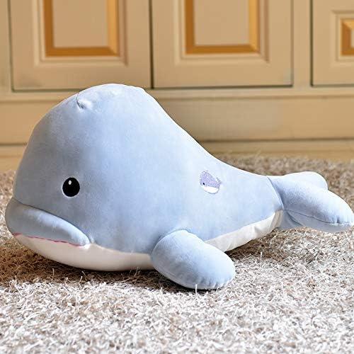DONGER Weißhe Wale Schlafkissen Puppe Puppe Geburtstagsgeschenk Spielzeug Freundin, Blau, 50 cm