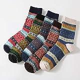 Calcetines Navidad,5 Pares/Set Medias De Navidad Thickening Keeping Warm Socks Sleeping Wear Thermal Wool Boots Fleece Floor Warmer Regalos De Navidad,D