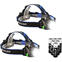 2-Pack Super Bright 3 Modes LED Headlamp Flashlight
