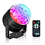 SUPREPOWER Disco Ball Lights, USB Party Lights 7 Color Sound Activated LED with Portable Remote for Home KTV Holidays Halloween Wedding Birthday Dance Pub Bar Club Show DJ Lighting