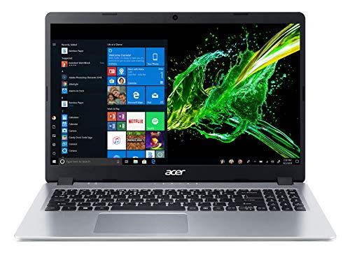Product Image 1: Acer Aspire 5 Slim Laptop, 15.6 inches Full HD IPS Display, AMD Ryzen 3 3200U, Vega 3 Graphics, 4GB DDR4, 128GB SSD, Backlit Keyboard, Windows 10 in S Mode, A515-43-R19L, Silver