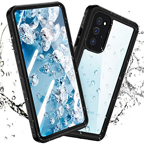 meritcase New Designed for Samsung Galaxy S20 FE Waterproof Case, Built-in Screen Protector Fingerprint Unlock with Film, Shockproof Full Body Cover Waterproof Case for Samsung Galaxy S20 FE 5G 2020
