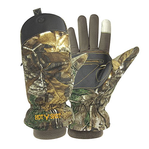 Hot Shot Men's'Predator' Pop-Top Mitten, Realtree Xtra, Large