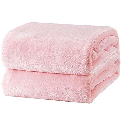 Bedsure Kuscheldecke Rosa XL Decke Sofa, pink/Altrosa Fleecedecke als Sofadecke/Couchdecke, kuschel Wohndecken Kuscheldecken, 150x200 cm extra flaushig und plüsch Sofaüberwurf Decke