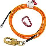 Luntus Kit de LíNea Flip de NúCleo de Alambre de Acero Cuerda de Posicionamiento de Escalada Ajustable para Arbolistas Escaladores Trepadores de áRboles Al Aire Libre