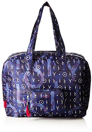 Oilily Damen Enjoy Travelbag Shz Stoff-und Strandtasche, Blau (Dark Blue), 21.5x36x48 cm