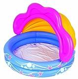 Bestway 51098B - Kinder-Pool mit abnehmbaren Sonnenschutz 142 x 86 cm