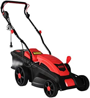CGOLDENWALL Corded Electric Lawn Mower Household Hand-Pushed Mower Small Plug-in Lawn Mower Garden Trimmer (1400W, 20M Cor...