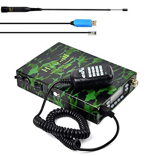 HYS M25W - Ricetrasmettitore radio mobile a doppia banda VHF UHF, radio amatoriale portatile, compatibile con software e cavo di programmazione (verde mimetico)