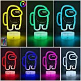 3D Table Lamp with 16 Colors Changing, USB Powered Illusion Night Light with Remote Control, Bedside Night Lights for Kids Gifts Bedroom Decoration