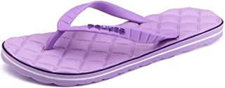 Sumuzhe Cool and Comfortable Women and Men's Thong Slipper Flip Flop Leisure Beach Sandals (Color : Purple, Size : 2.5 UK Child)
