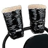 7 A.M. Enfant Polar Warmmuffs Stroller Gloves with Universal Fit (Black Polar)