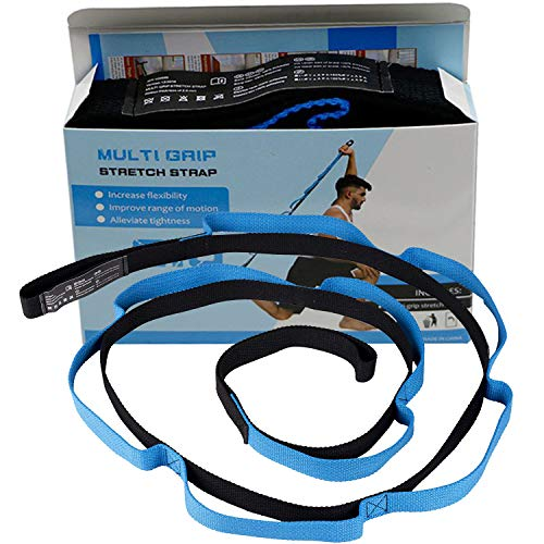 Sports Stretching Strap, Flexibility Durable Exercise Straps with 10 Flexible Loops, Gravity Fitness Exercise Band for Physical Therapy, Yoga, Exercise, Dance by sestp strap