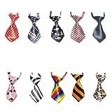 GOGO Katze Hund Krawatten Hundehalsband Haustier für Feiertagsfest 10 Stück