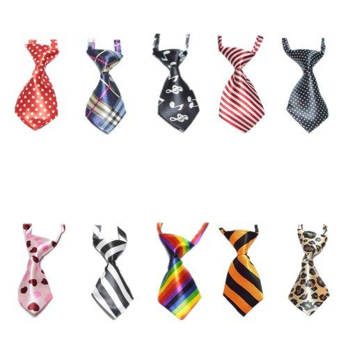 GOGO Cravatte per Gatti Collare per Cani Cravatte per Animali Domestici 10 Pezzi