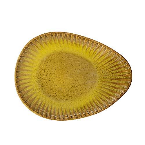 Bloomingville Plato Cala, amarillo, cermico